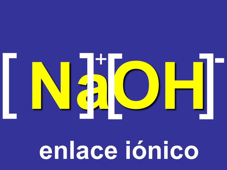 [ ] [ ] - Na + O H enlace iónico